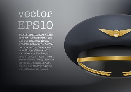 peaked cap: Background of Aviator Peaked cap of the pilot