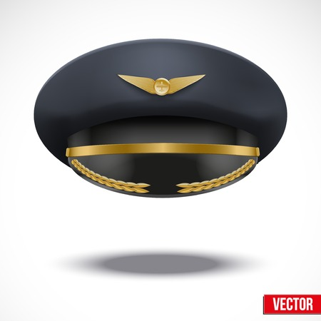 Aviator Peaked cap of the pilot Vettoriali