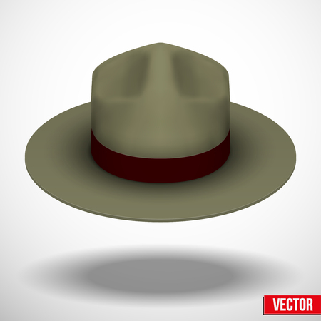 ranger: Cappello Ranger cachi in colore verde Vettoriali
