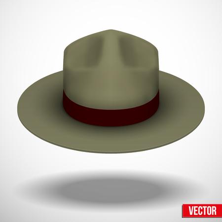 straw hat: Ranger hat khaki in green color