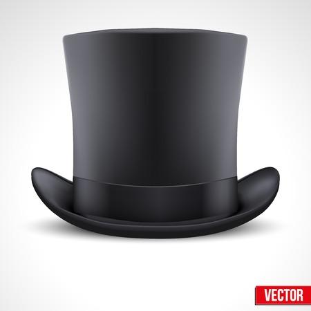 Background of black gentleman hat cylinder
