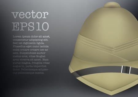 safeness: Background pith helmet hat for safari or explorer Illustration