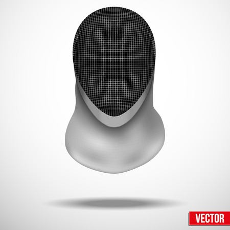 Background of Fencing helmet mask