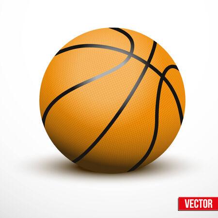 バスケット ボール ボールは、白い背景で隔離。リアルなベクター イラストです。
