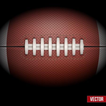 pelotas de futbol: Fondo oscuro de la bola del f�tbol americano aislado. Ilustraci�n vectorial realista. Vectores