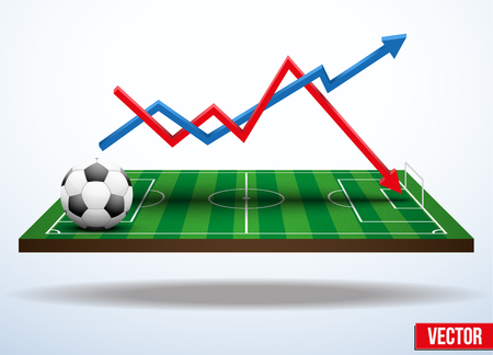 Background concept statistics about the game of soccer In three-dimensional space Vector