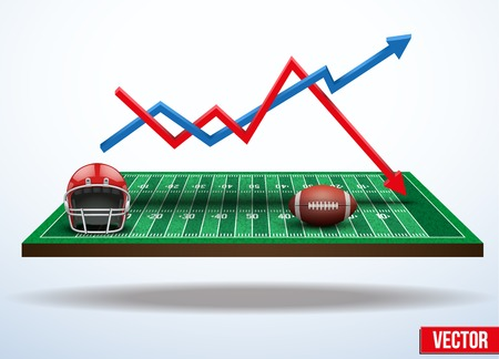 Background concept statistics about the game of football. In three-dimensional space. Vector illustration. Vector