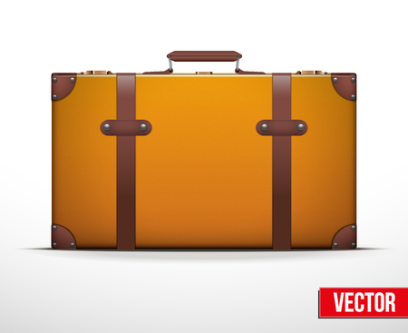 old suitcase: Classic vintage luggage suitcase for travel. Vector Illustration. Editable and isolated.