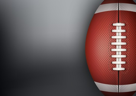 Dark Background of American Football sports with space for text. Theme of list and schedule of players and statistics. Stock Photo