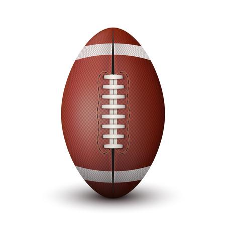 college footbal: Realista pelota de f�tbol americano aislado en un fondo blanco.