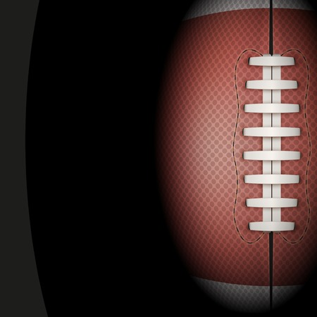 american football player: Dark Background of American Football sports with space for text. Theme of list and schedule of players and statistics. Stock Photo