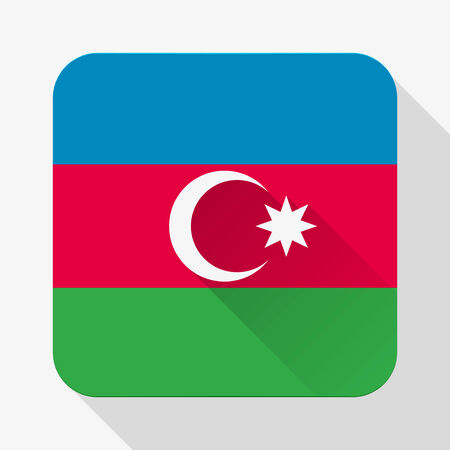 Simple flat icon Azerbaijan flag.  photo