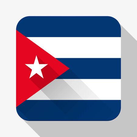 bandera cuba: Icono simple del plano de la bandera de Cuba.