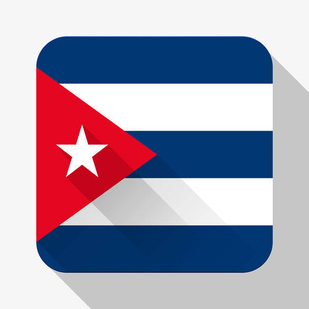 Simple flat icon Cuba flag.  photo