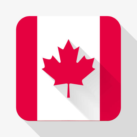 Simple flat icon Canada flag.  photo