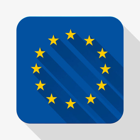 Simple flat icon Europe Union flag.  photo