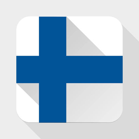 Simple flat icon Finland flag.  photo