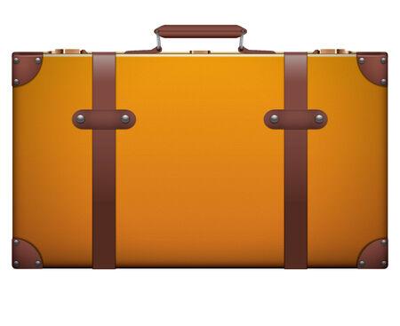 portmanteau: Classic vintage luggage suitcase for travel.