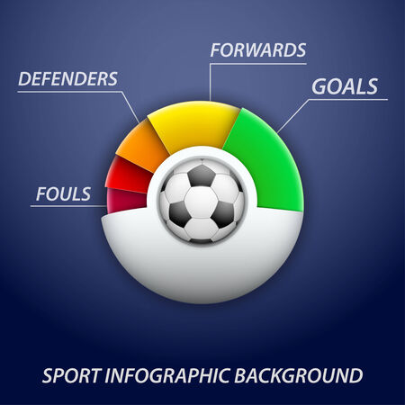Background concept statistics about the game of soccer. Vector illustration. Vector