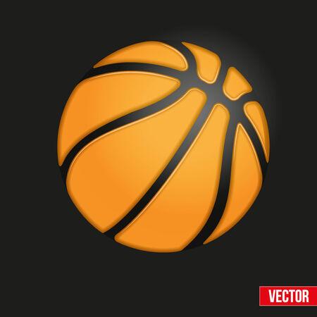バスケット ボール ボール現実的なベクトル イラストのソフトのシンボル