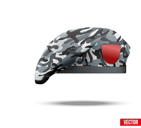 Military Beret with camo texture of Army Special Forces