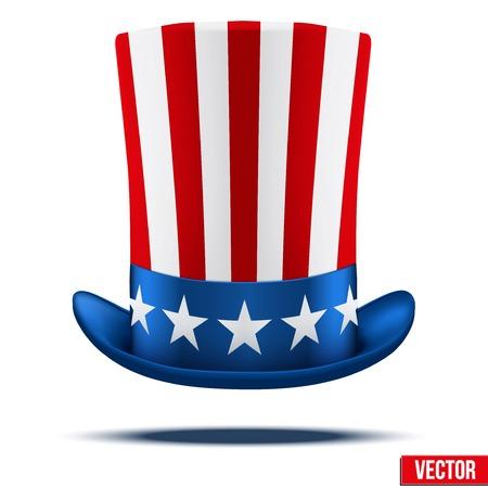 Uncle Sam s hoed symbool van vrijheid en vrijheid