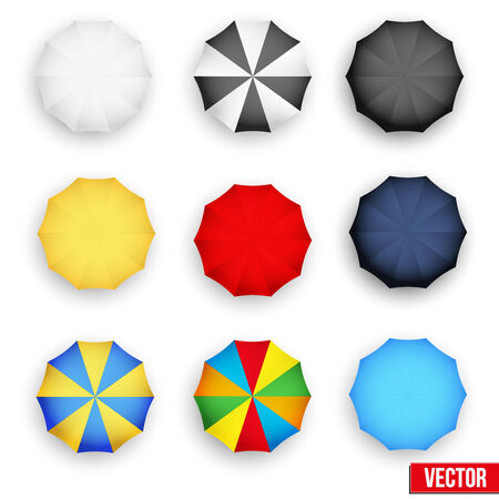 Set symbols of rain umbrellas  Seasons objects parasol   Vector