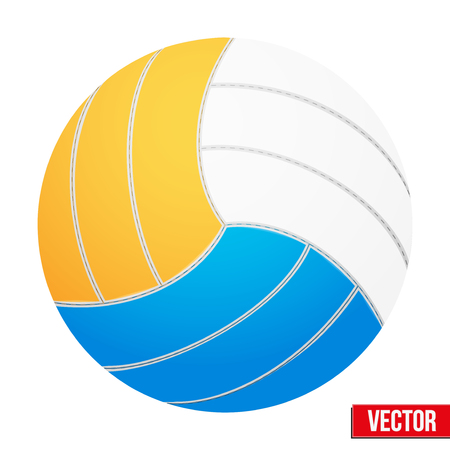Volleyball in three colors  Isolated on white background  Vector realistic Illustration  Vettoriali