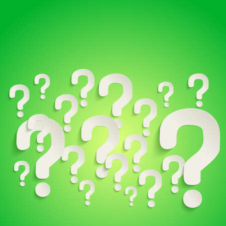 Background with question marks randomly scattered on the surface  Vector Illustration Vector