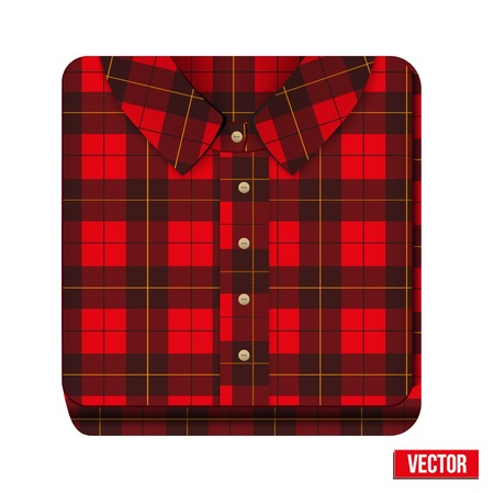 Icon flannelet check texture plaid shirt  Vector
