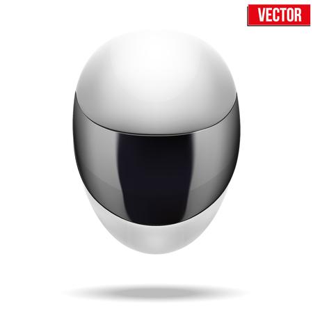 motorradhelm: Hochwertige Licht wei�en Motorradhelm Illustration