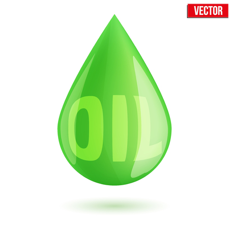 Green oil industry drop symbol