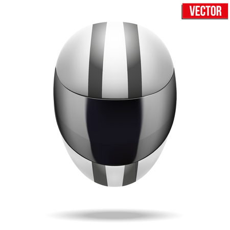 High quality light white motorcycle helmet  Sport vector Illustration Isolated on white background