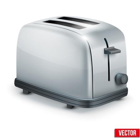 Heldere Metal Glossy Broodrooster vector illustratie geïsoleerd op wit Vector Illustratie