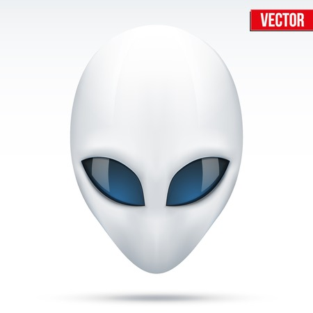 lifeform: Alien head creature from another world  Vector illustration isolated on white background