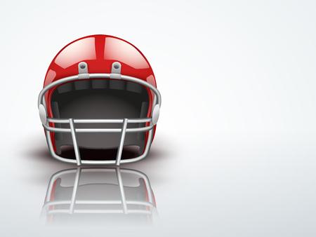 Arrière-plan clair réaliste équipement américain de casque de football pour la protection de lecteur modifiable Vector illustration