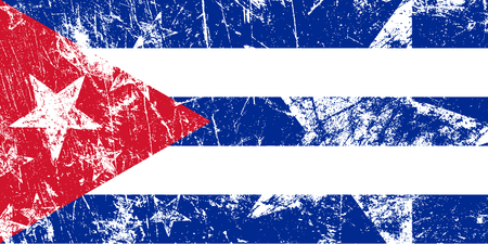 havana cuba: Grunge abstract Cuban flag. Artwork vector illustration.