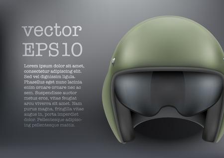 30d2a27f14b1a8  31058411 - Achtergrond van militaire vlucht helikopter helm. Vector illustratie  geïsoleerd op een witte achtergrond.