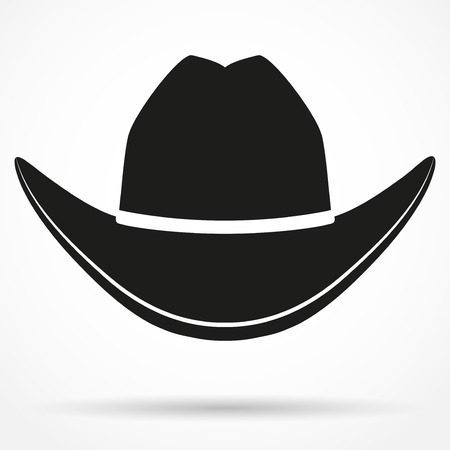 Silhouette symbol of cowboy hat traditional symbol
