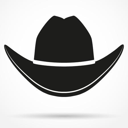Silhouet symbool van cowboyhoed traditioneel symbool