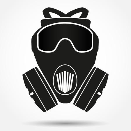 army gas mask: S�mbolo de la silueta de color caqui respirador m�scara de gas