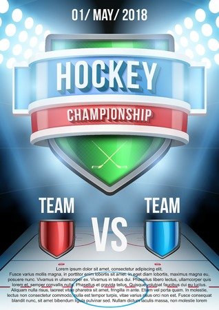 hockey ice: Background for posters ice hockey stadium game announcement