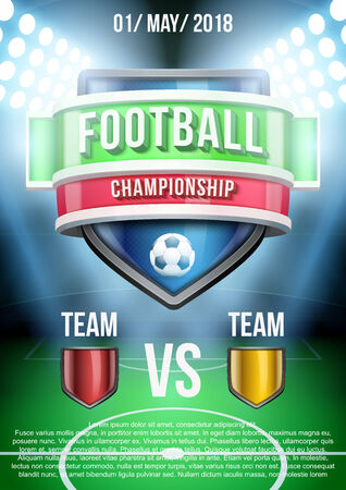 sports background: Background for posters soccer football stadium announcement Stock Photo