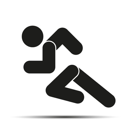 Running people. Simple symbol of run isolated on a white background. Vector Illustration. Vector