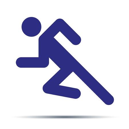 simbolo uomo donna: Semplice simbolo di corsa isolato su uno sfondo bianco. Vettoriali