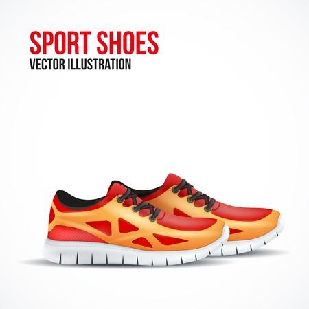 Laufende bunte Paar Schuhe. Standard-Bild - 33056303