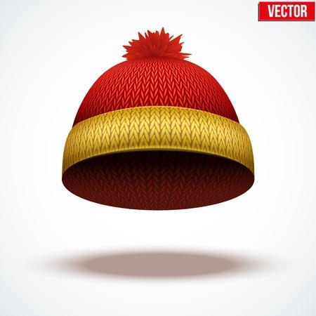 woolen: Knitted woolen cap.