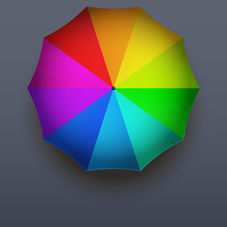 rainbow umbrella: Background on a seasons theme of autumn. Symbol rainbow umbrella with rain drops.