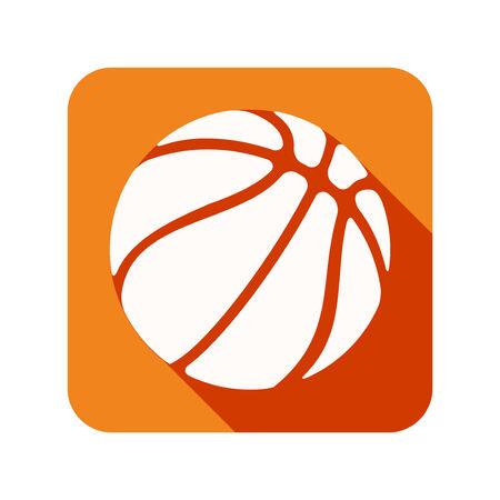 ballon basketball: Icone plat avec le ballon Symbole Basketball. Vector Illustration.