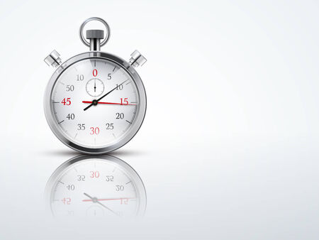 cronógrafo: Fondo claro con cronómetros cronómetro. Negocios o Sport símbolo de la oportunidad. Ilustración vectorial editable.